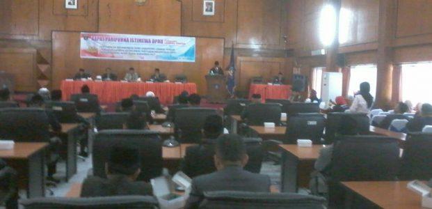 Dewan Gelar Rapat Istimewa Rekomendasi LKPJ Akhir Tahun 2017