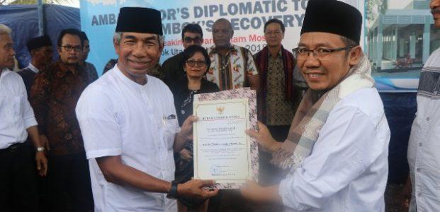 Menlu Bersama Asosiasi Dubes untuk Indonesia Peduli Recovery Lombok