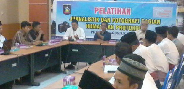 Humas Dan Protokol Gelar Pelatihan Jurnalistik dan Fotografi