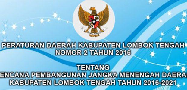 PERATURAN DAERAH KABUPATEN LOMBOK TENGAH NOMOR 2 TAHUN 2016