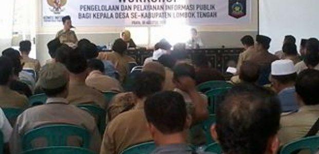 Seluruh Kades Se-Lombok Tengah Ikuti Workshop Informasi Publik