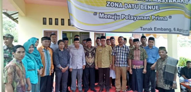 Wabup Resmikan Sekretariat Zona Datu Benue